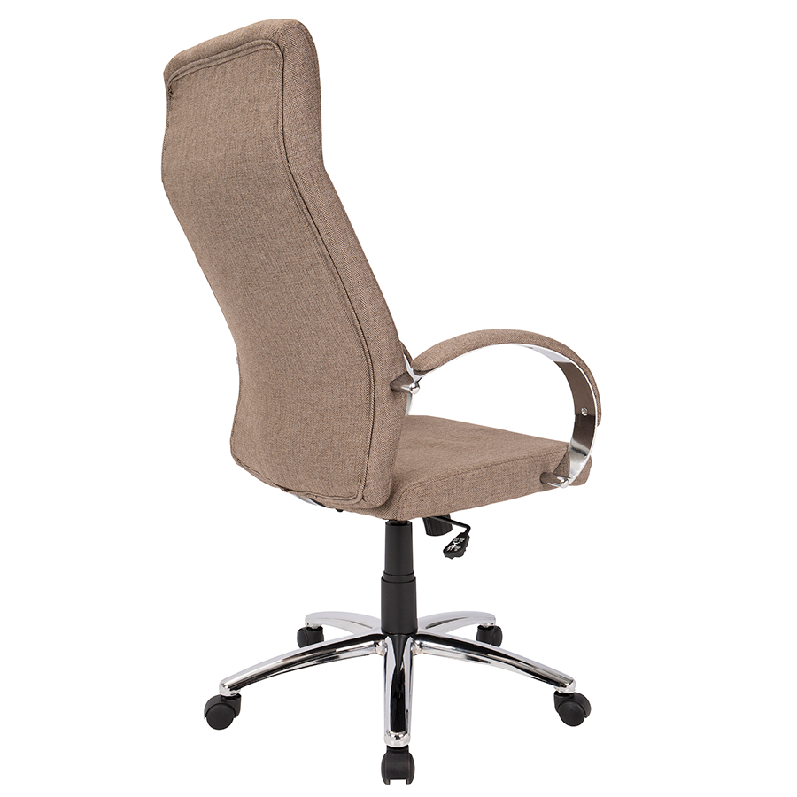 Allegra Brown Fabric Contemporary Office Chair