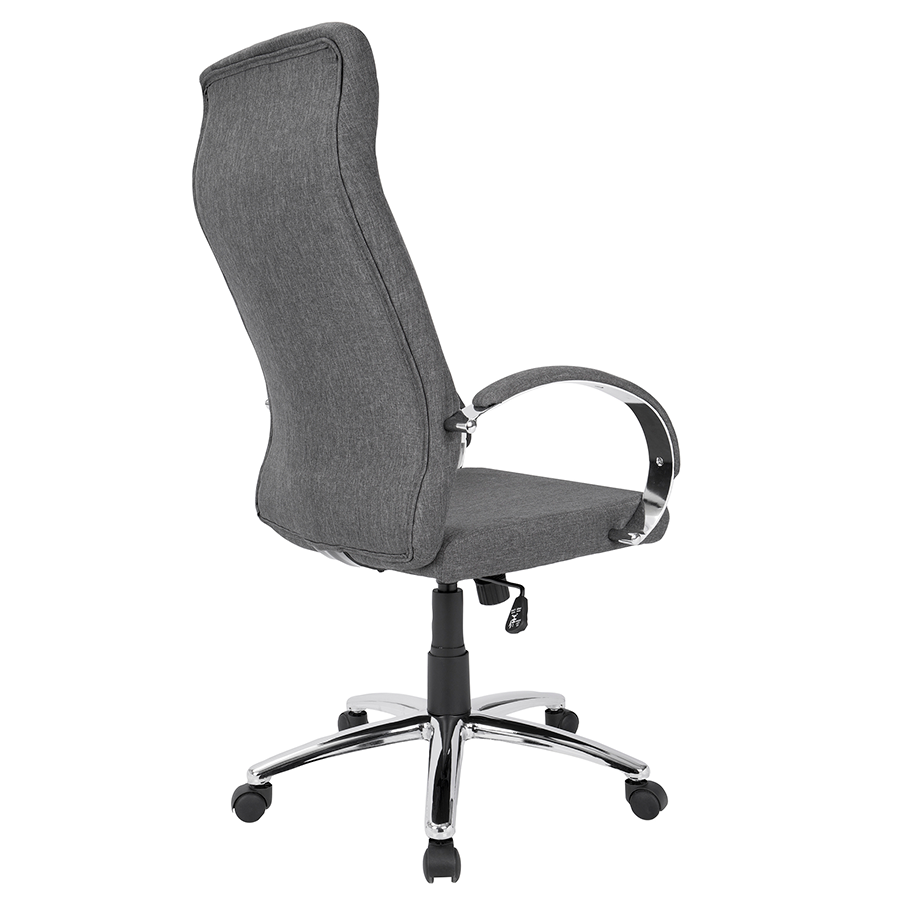 Allegra Gray Fabric Contemporary Office Chair