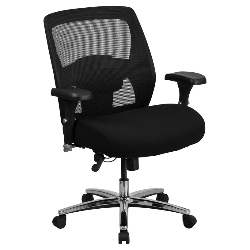 Alpha 500 lb Capacity Black Modern Office Chair