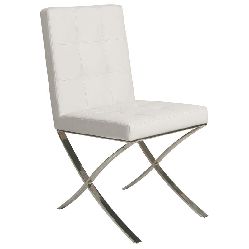 Amanda Ivory Modern Dining Chair