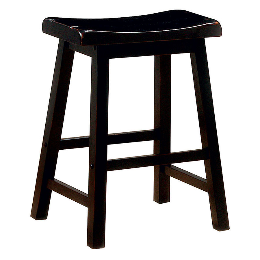 Anna Black-Stained Modern Counter Stool