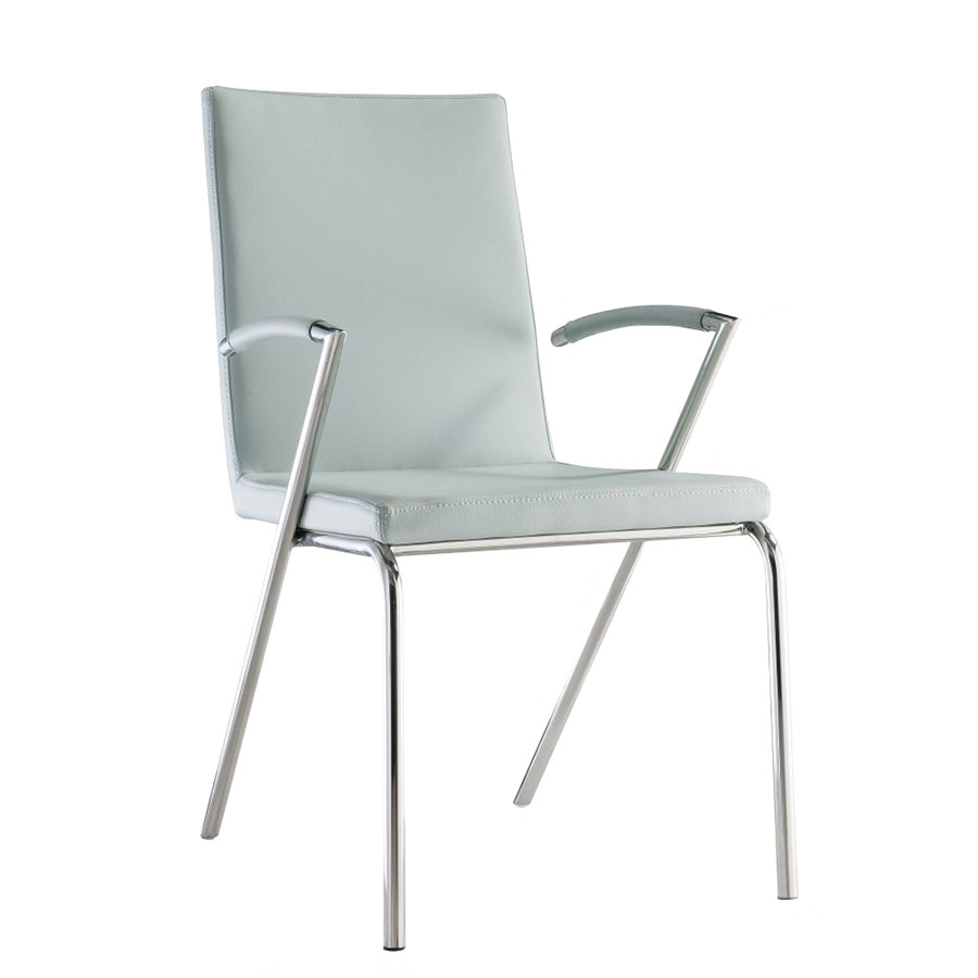 Annalisa Contemporary Gray Dining Chair
