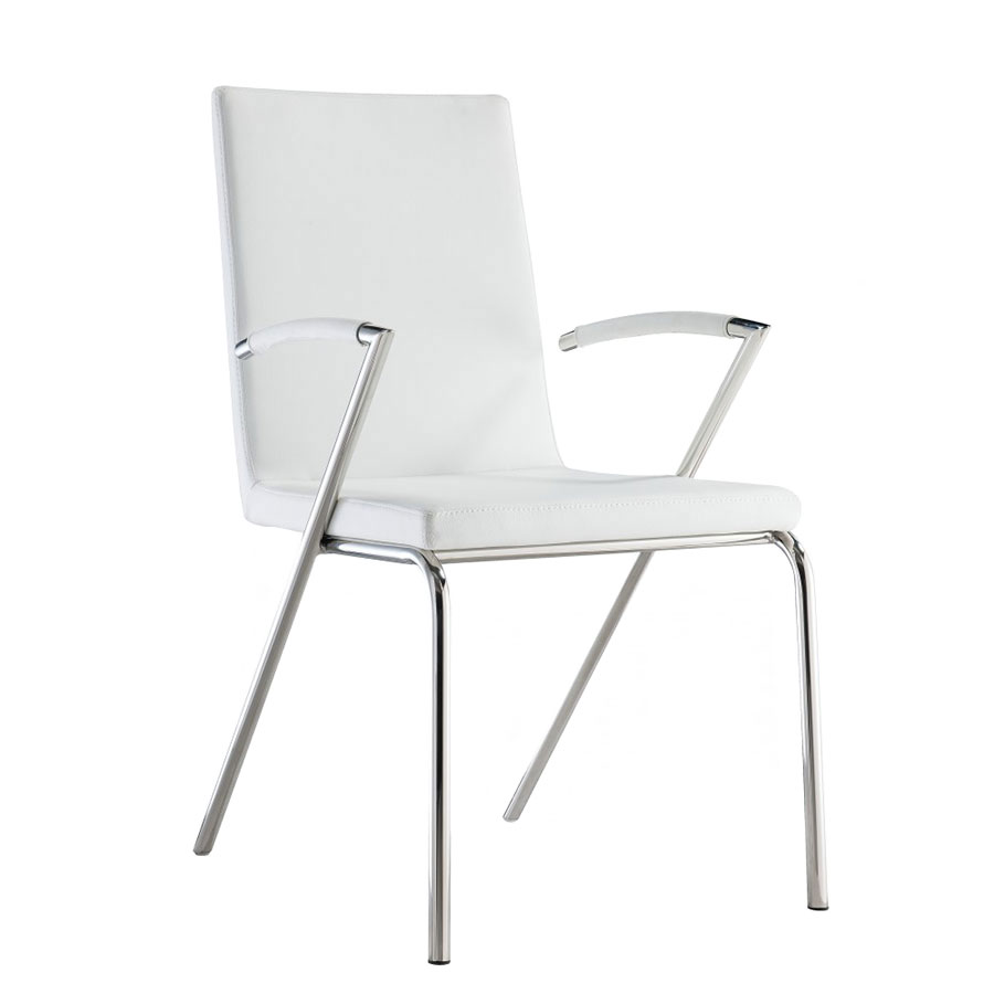 Annalisa Contemporary White Dining Chair