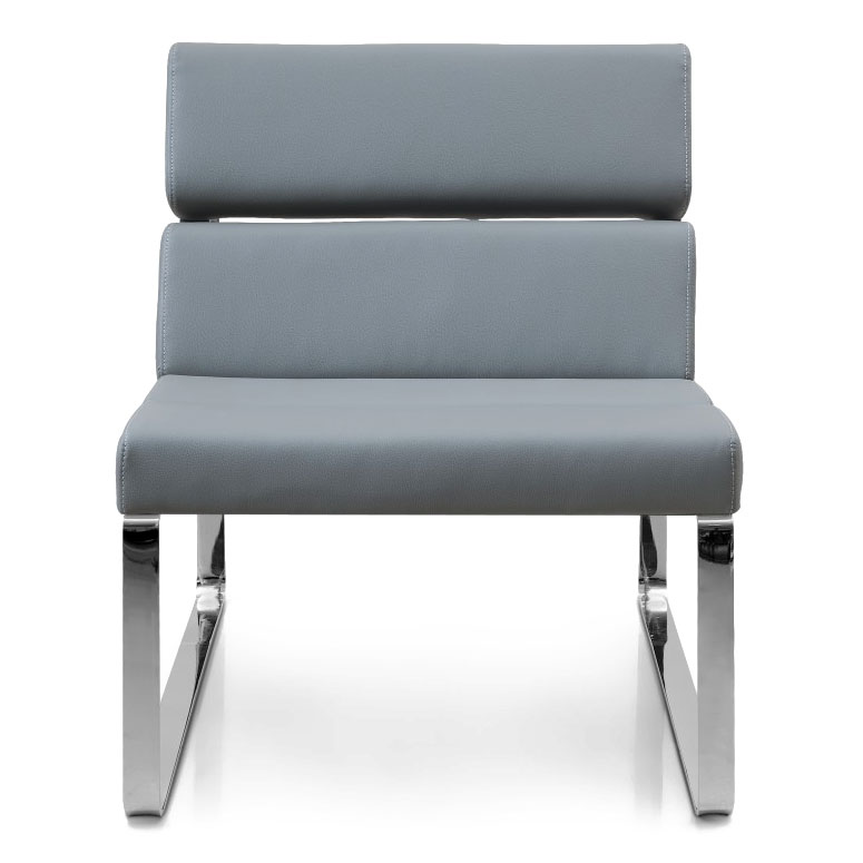 Annie Modern Lounge Chair in Gray - Front View