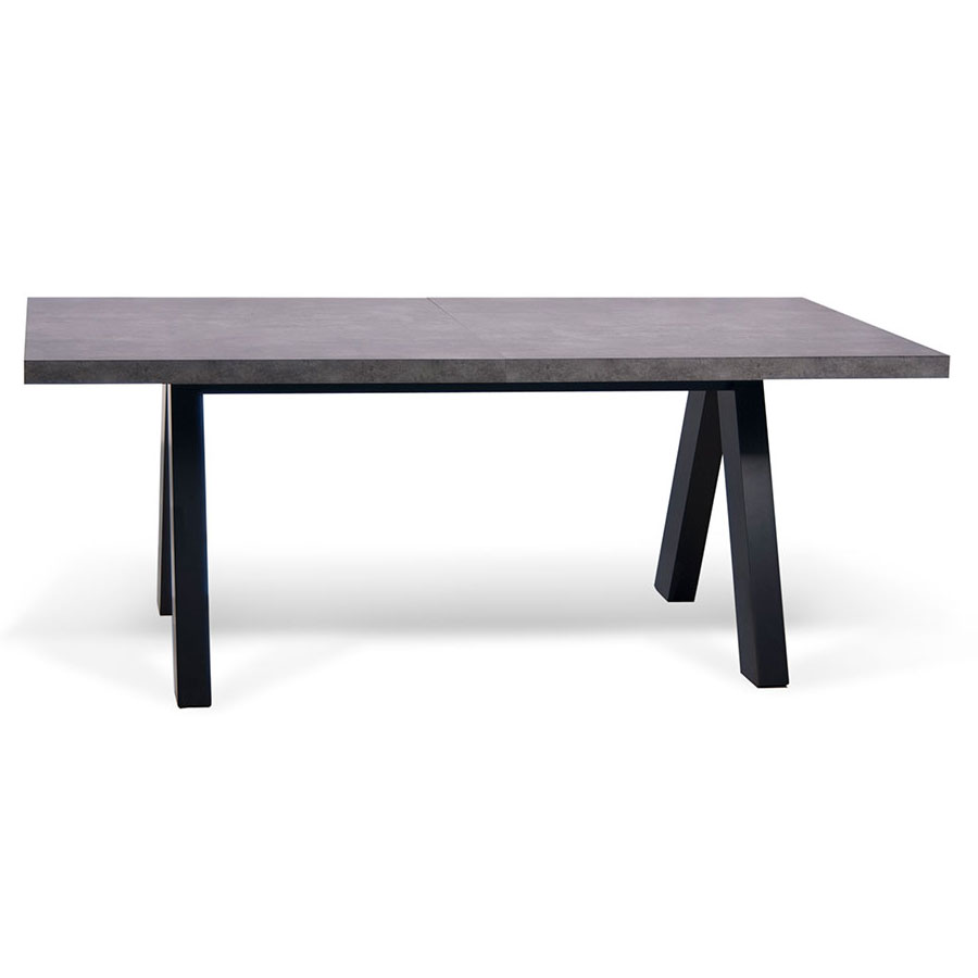 Apex Extending Contemporary Dining Table Closed