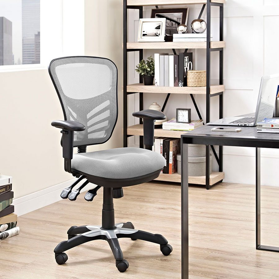 Arbon Gray Mesh Contemporary Office Chair