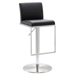 Ardennes Modern Black Adjustable Height Stool