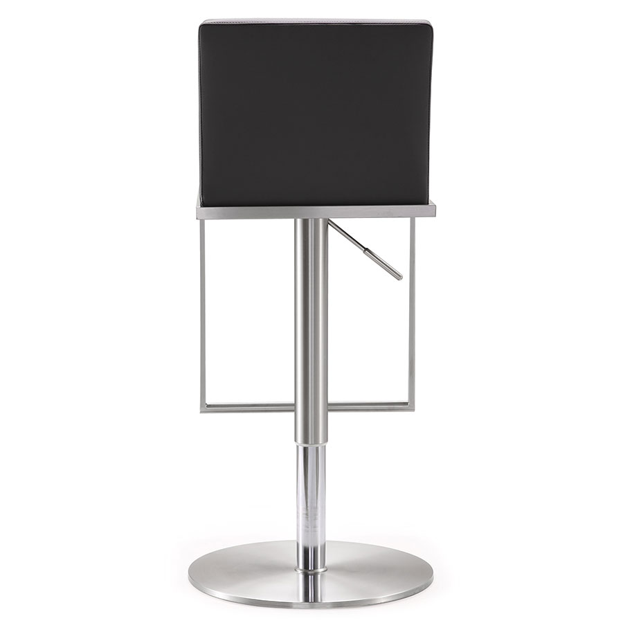 Ardennes Modern Gray Adjustable Stool - Back View