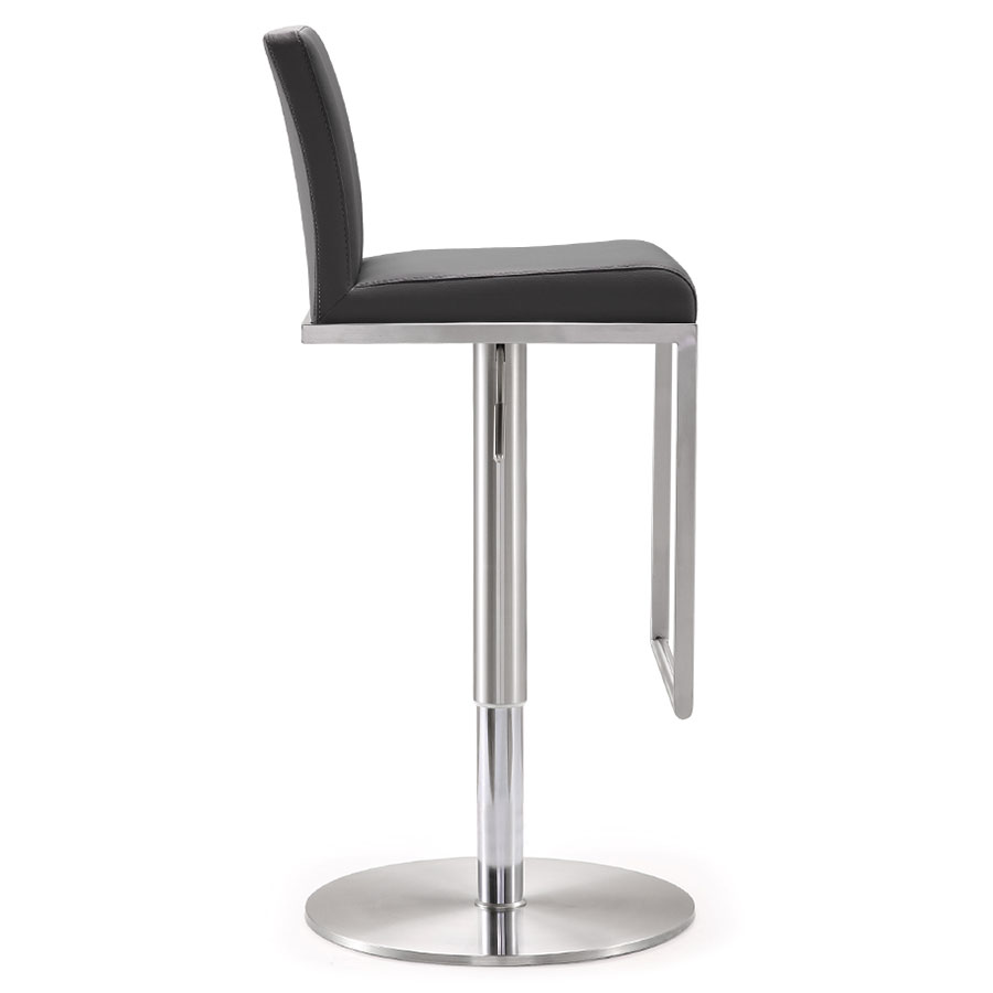 Ardennes Modern Gray Adjustable Stool - Side View