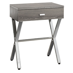 Astoria Modern Dark Taupe Nightstand Side Table