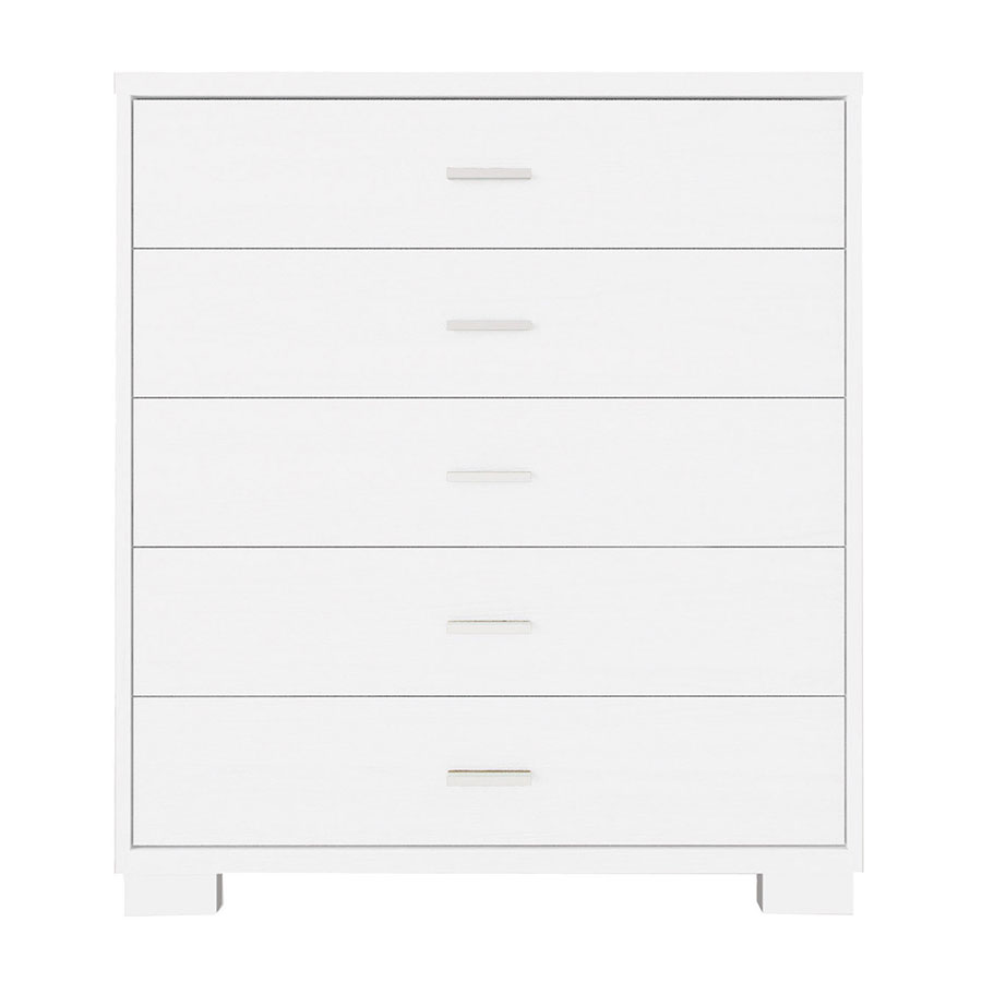 Astrid Modern White High Gloss 5 Drawer Chest