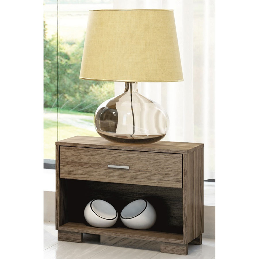 Astrid Contemporary Matte Chocolate Nightstand