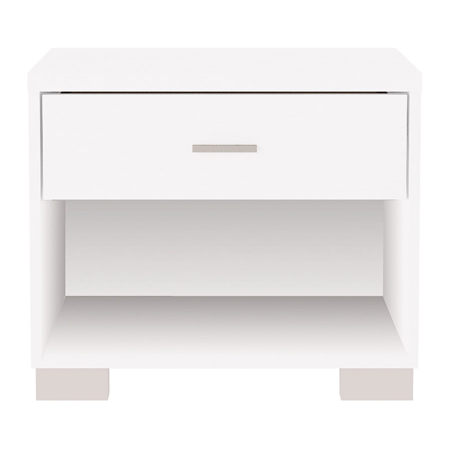 Astrid Modern White High Gloss Nightstand