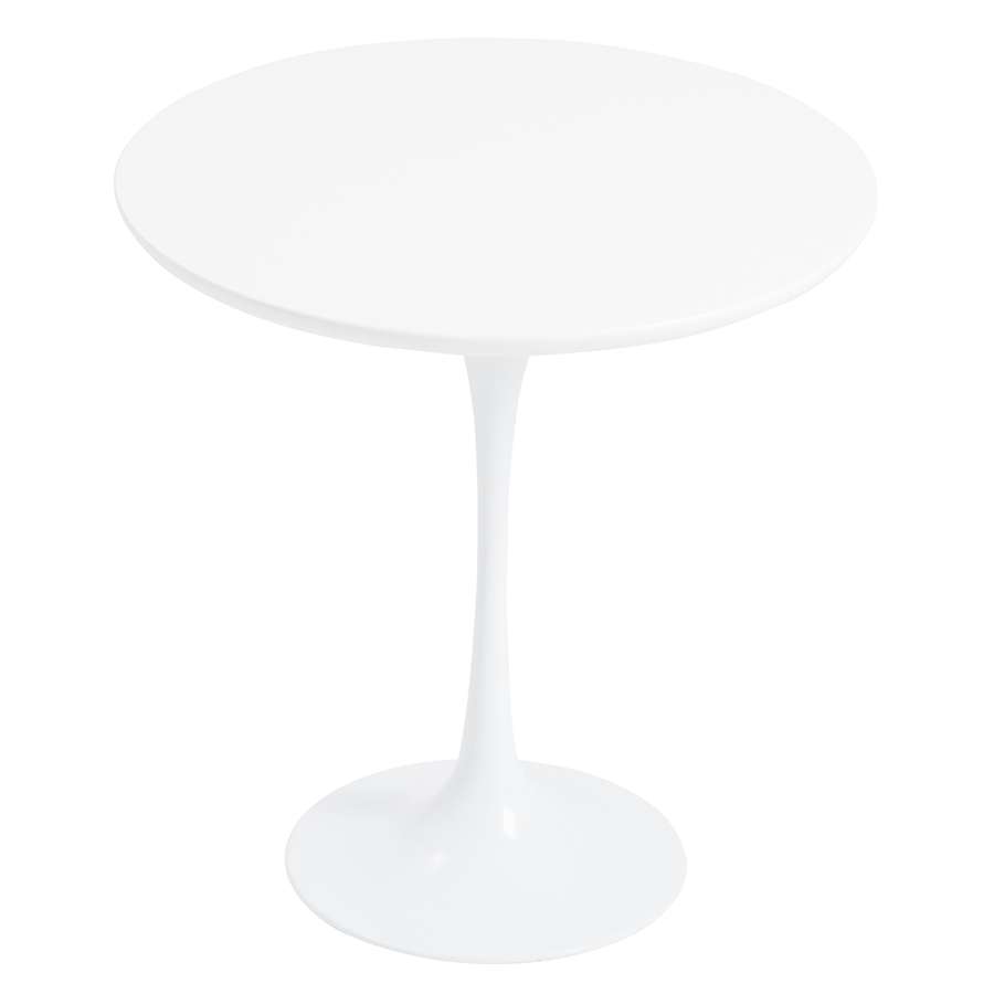 Astrid White Contemporary Side Table