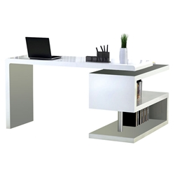 Modern White Desks - Atkinson White Modern Desk