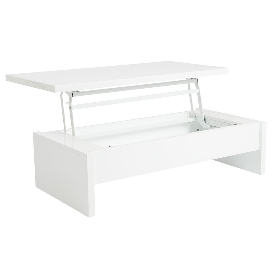 Austin Convertible White Coffee Table Eurway Modern