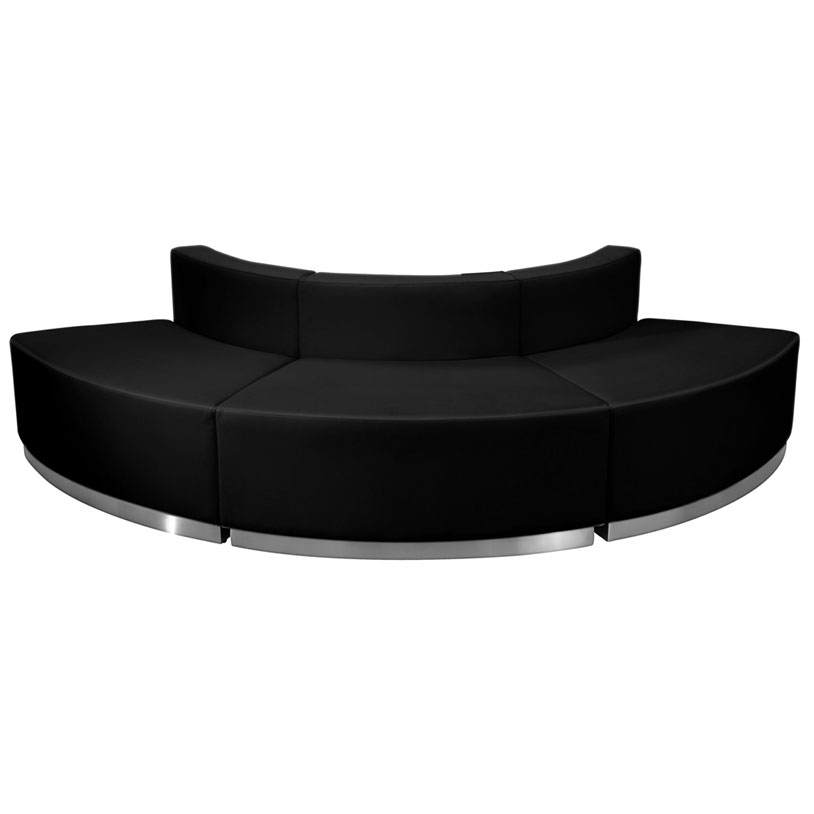 Avalon Modern Black Modular Convex 3 Pc Sectional