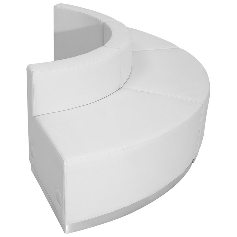 Avalon Modern White Modular Convex 3 Pc Sectional - Side View