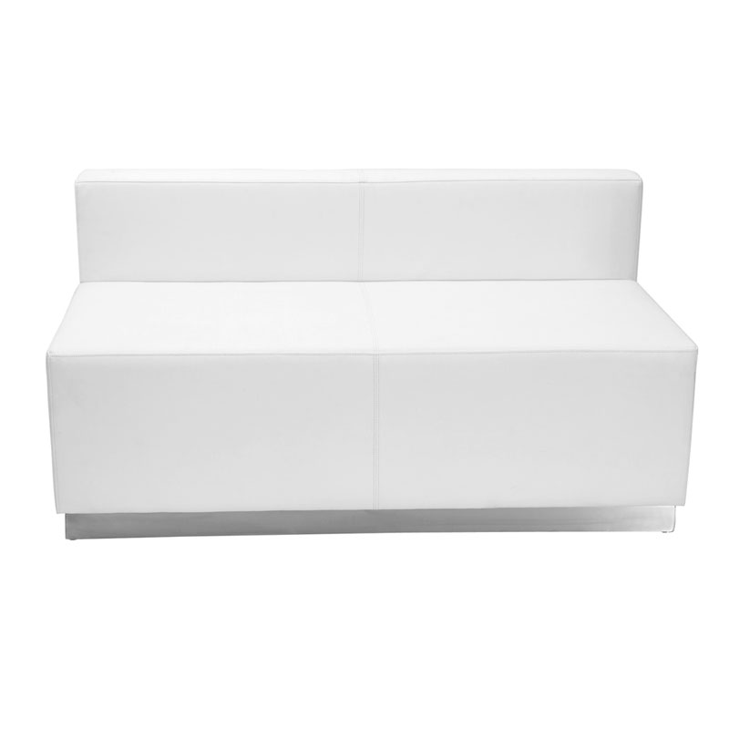 White Modern Modular Avalon Loveseat