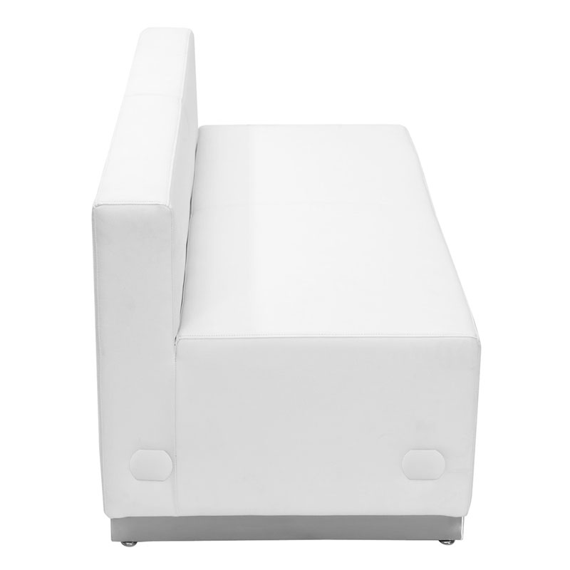 Avalon White Modern Modular Loveseat