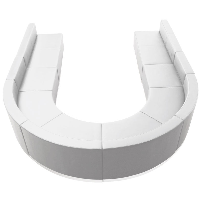 Avalon U-Shaped Modular Seating Group in White