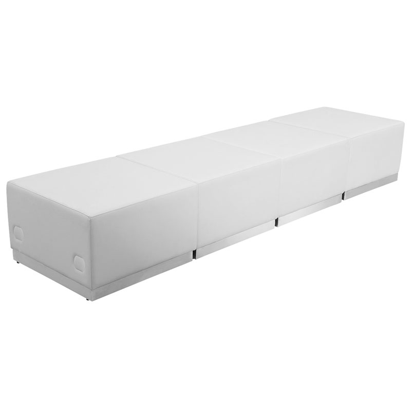 Avalon White Modular Modern Ottomans