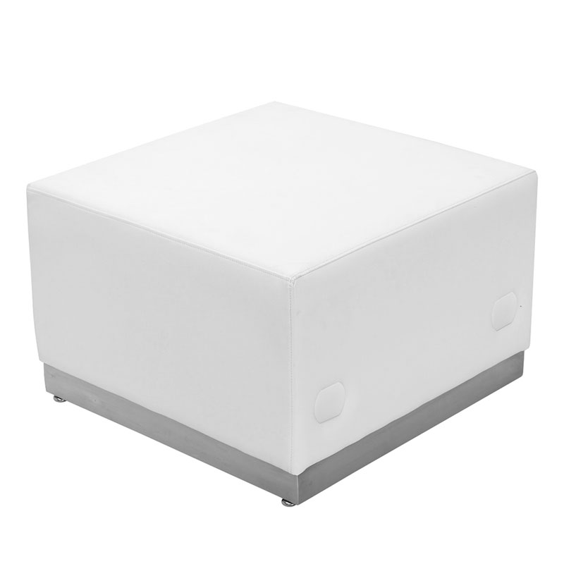 Avalon Modern Modular Ottoman in White
