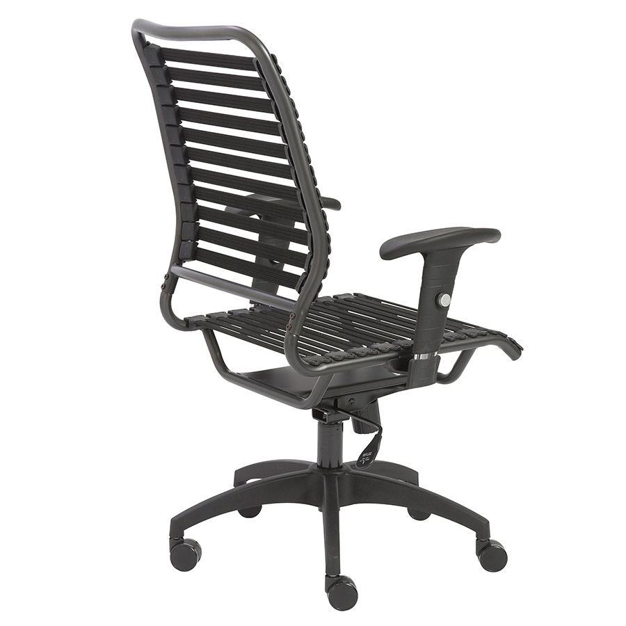 Baba Black Bungie High Back Contemporary Office Chair