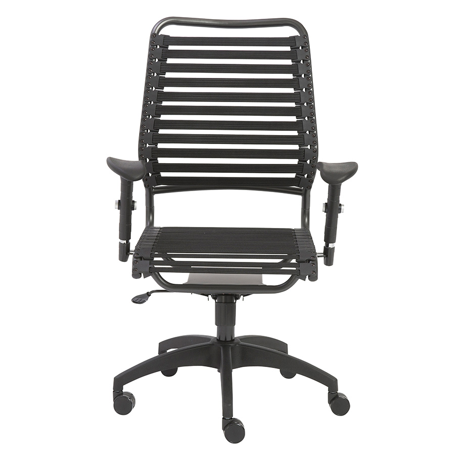 Baba Black Contemporary High Back Office Chair