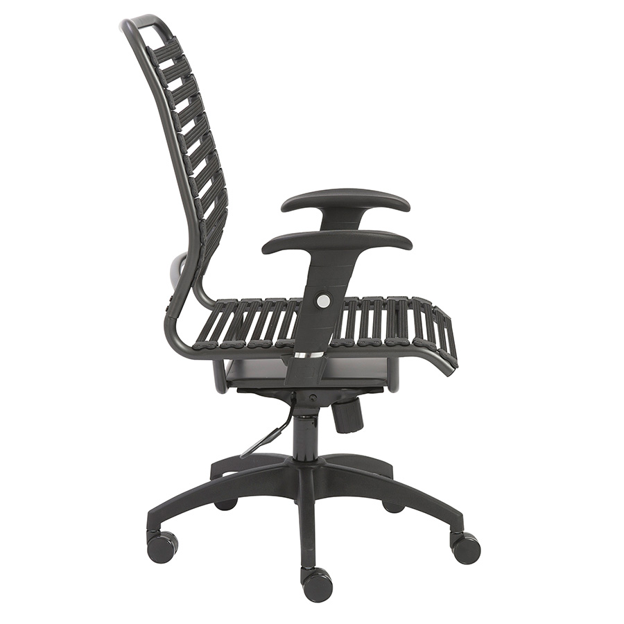 Baba Black Bungie High Back Modern Office Chair