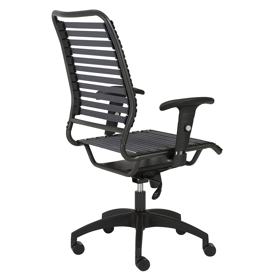 Baba Dark Gray Bungie High Back Contemporary Office Chair