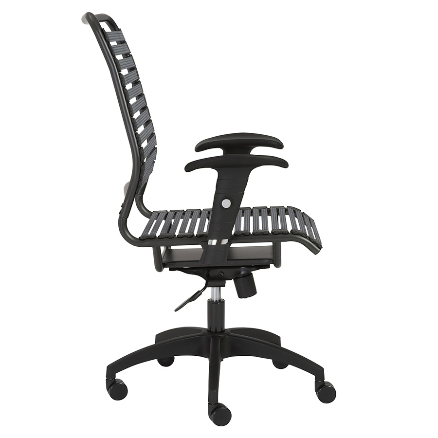 Baba Dark Gray Bungie High Back Modern Office Chair