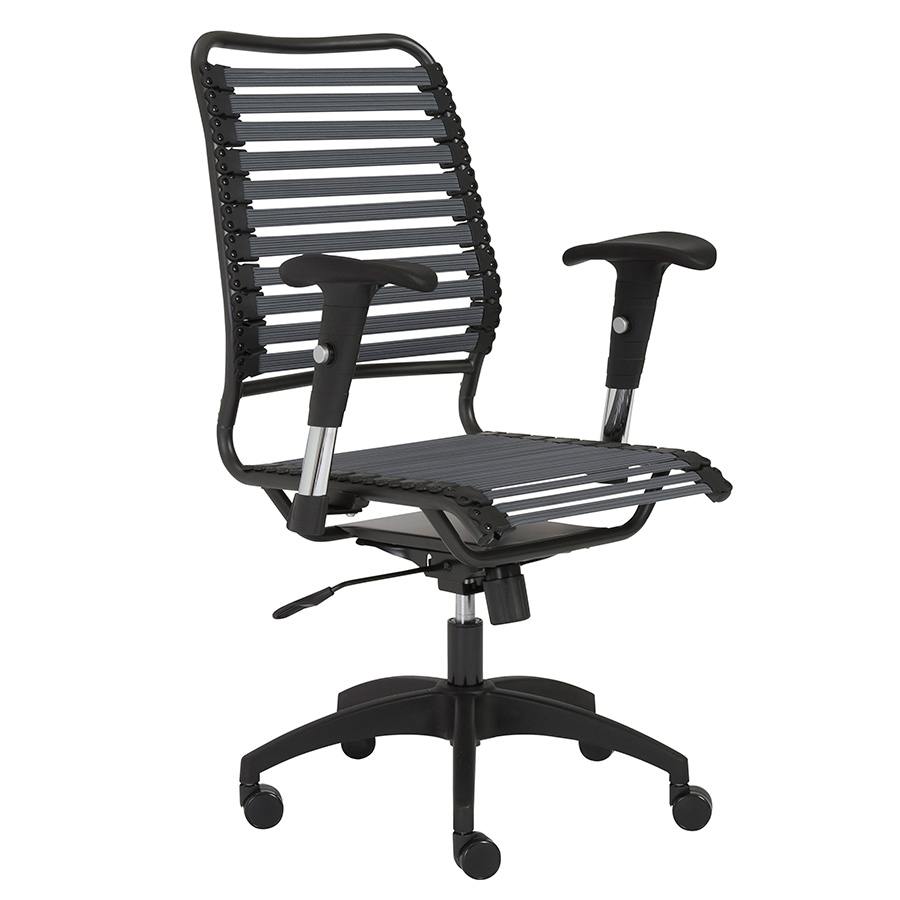 Baba Dark Gray High Back Contemporary Office Chair