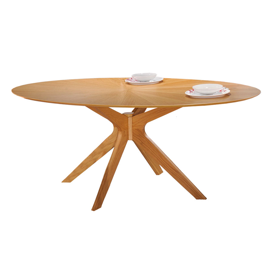 Balboa Modern Oval Dining Table In Oak Eurway Modern