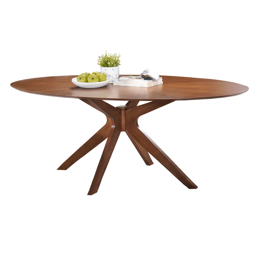 Balboa Modern Oval Dining Table In Walnut Eurway