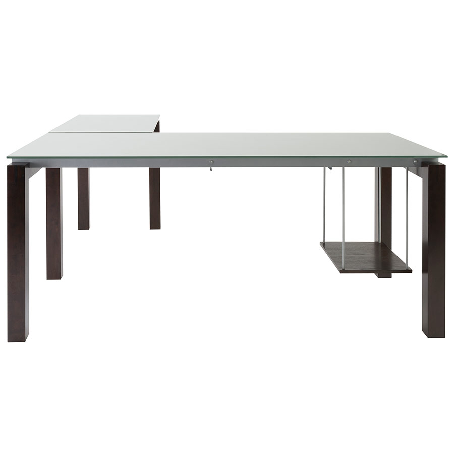 Ballard Modern L-Desk in Wenge