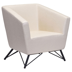 Barnes Modern Cream Lounge Chair