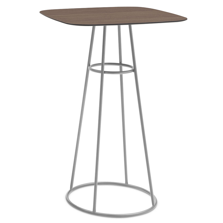 Barry Satin + Laminate Modern Bar Table
