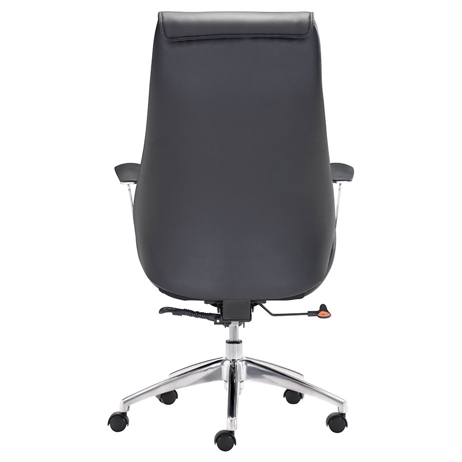 Benoit Black Leatherette Contemporary Office Chair
