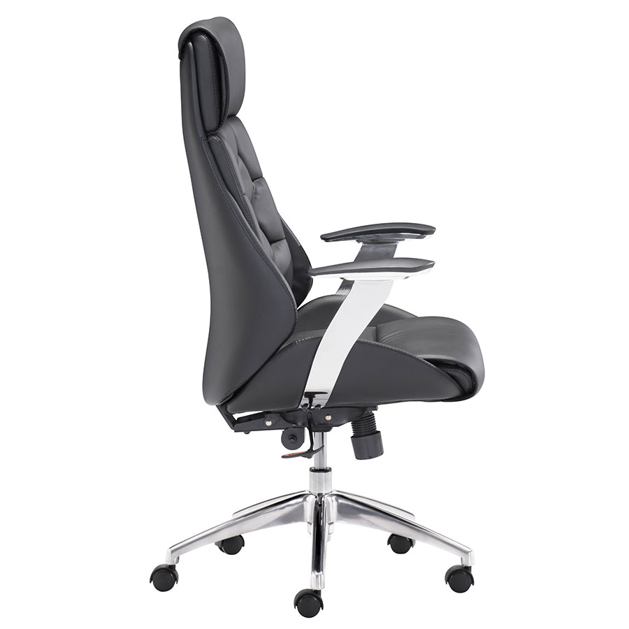 Benoit Black Leatherette Modern Office Chair