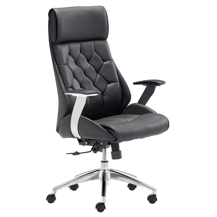 Benoit Black Modern Office Chair
