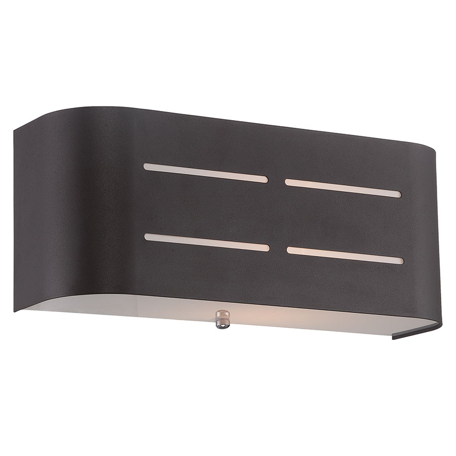 Berezi Coffee Metal + Frosted Glass Modern Wall Sconce