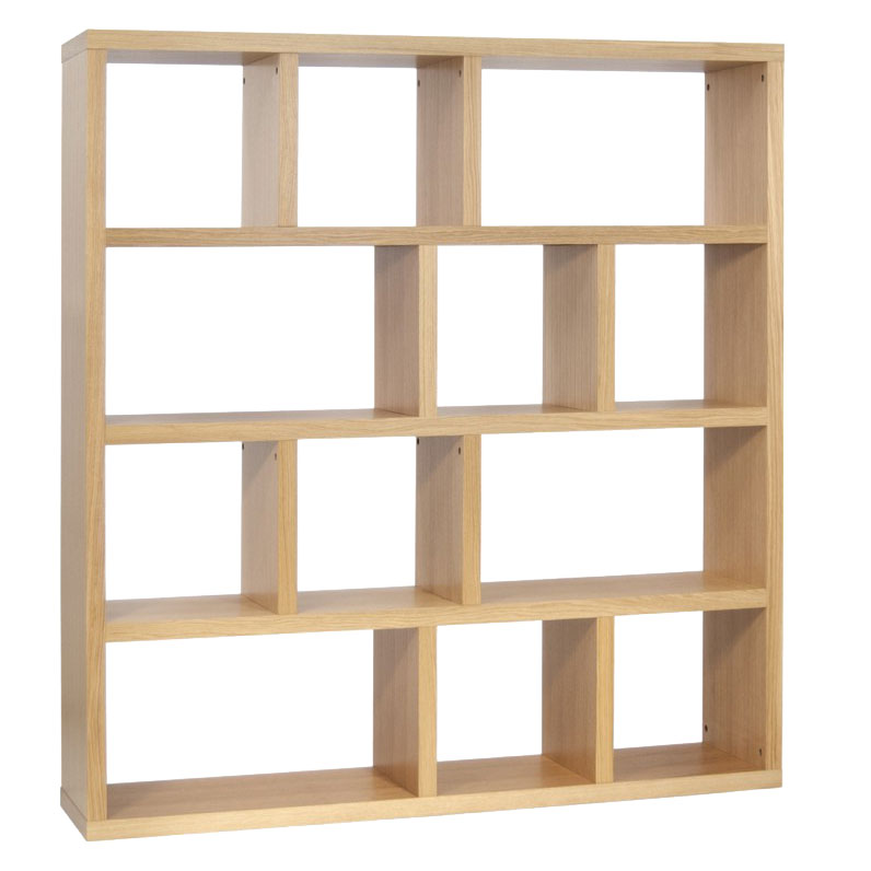 Berlin 4 Level 59 Inch Oak Contemporary Bookcase