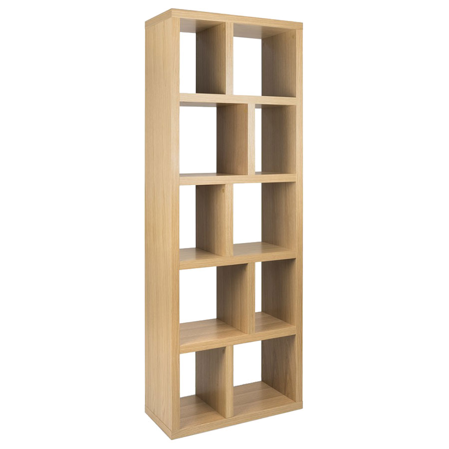 "Berlin 5 Levels 28"" Oak Contemporary Bookcase"