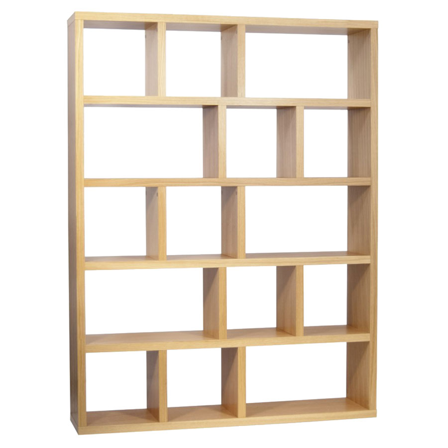 Berlin 5 Levels 150 CM Oak Contemporary Bookcase