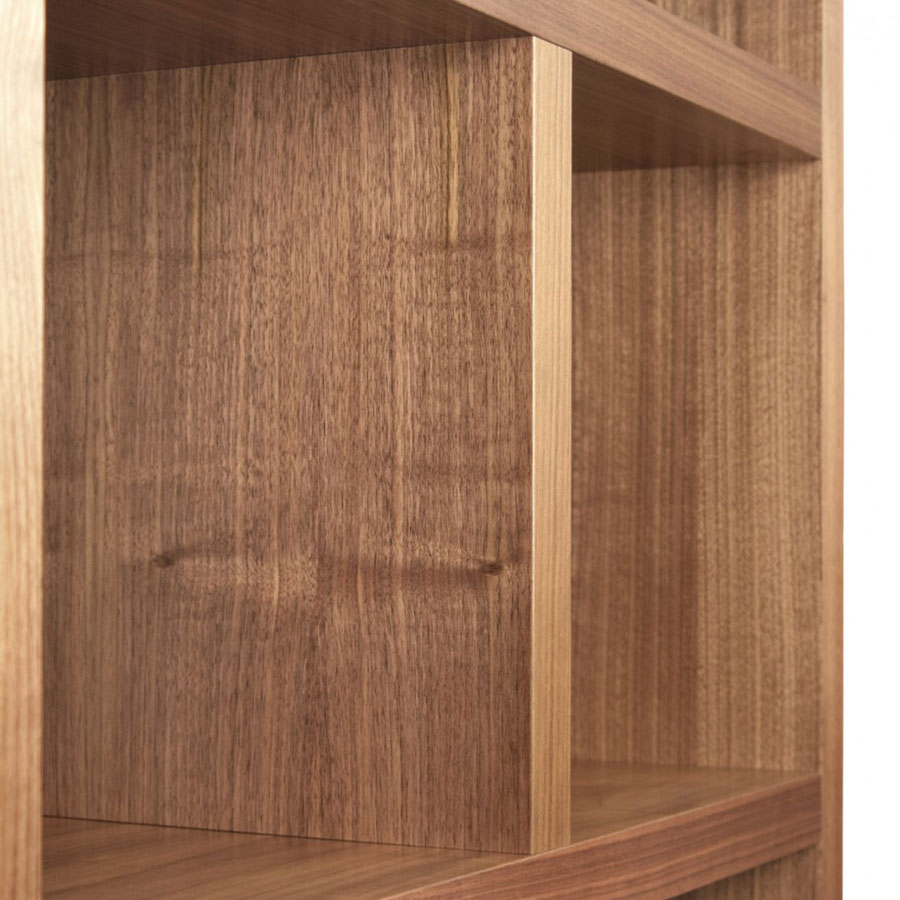 Berlin 5 Levels 150 CM Walnut Contemporary Bookcase Detail