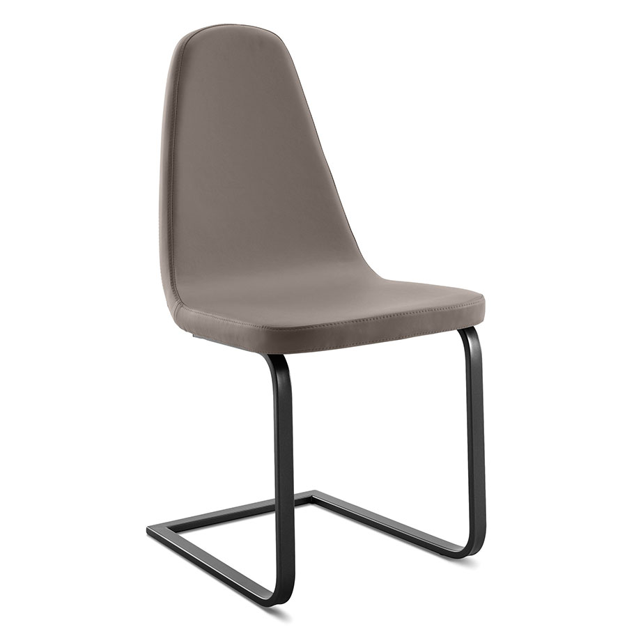 Berna Anthracite + Taupe Modern Dining Chair