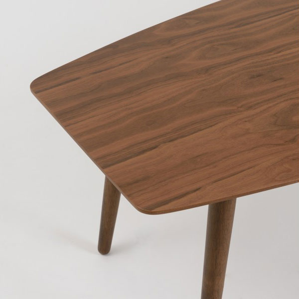 Bernard Walnut Modern Coffee Table
