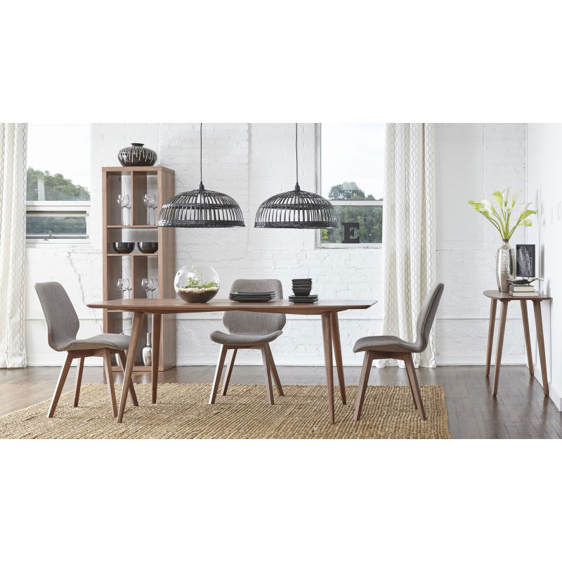 Bernard Dining Collection with Light  Gray Dining Chairs