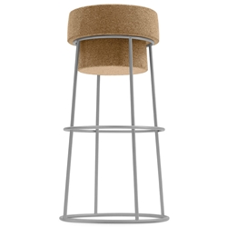 Beth Satin Modern Bar Stool